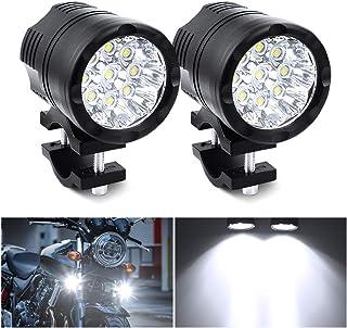 Biqing 2 SZT Universal 90W Reflektory Motocyklowe 12V 24V Reflektory LED, 9LEDs Motocyklowe światła Przeciwmgielne Lampa P...