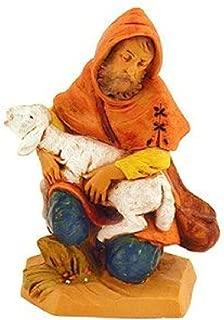 Fontanini Jeremiah the Shepherd with Sheep Italian Nativity Village Figurine