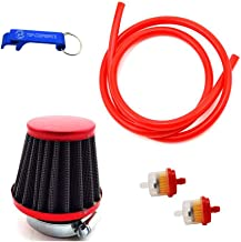TC-Motor Red 38mm Air Filter Fule Cleaner Gas Line Hose For 50cc 70cc 90cc 110cc 125cc Dirt Pit Bike ATV Quad Monkey Bike Motocross Motorcycle Go Kart Cart And GY6 50cc QMB139 Engine Scooter Moped