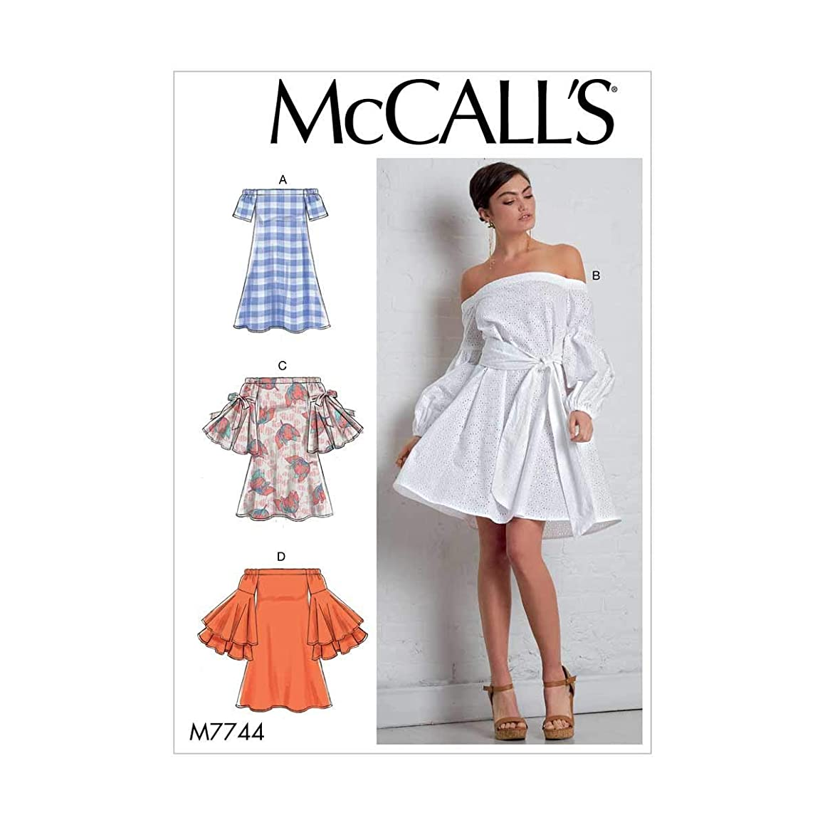 McCall's Patterns M7744A50 Misses' Dresses and Belt Sewing Pattern, A5 (6-8-10-12-14)