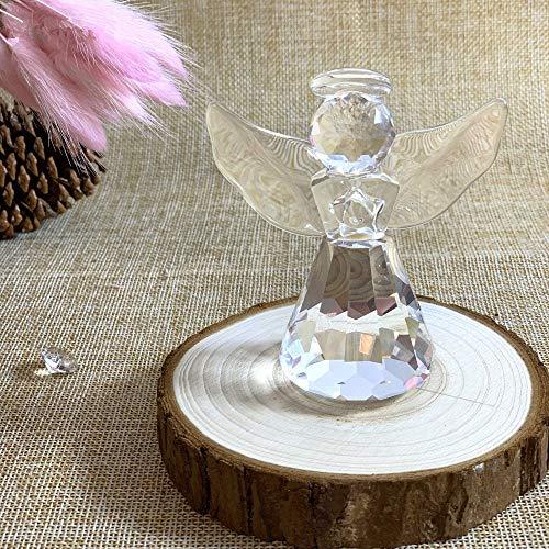 qianyue - Figura Decorativa para el Día de la Madre, Cristal de ángel con Figuras artesanales y Adornos, decoración para el hogar, Mesa