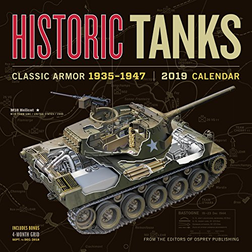2019 Historic Tanks Wall Calendar