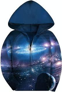 Big Boys' Youth Galaxy Teen Jackets Fleece Full Zip Hooded Hoodie 6-15Y