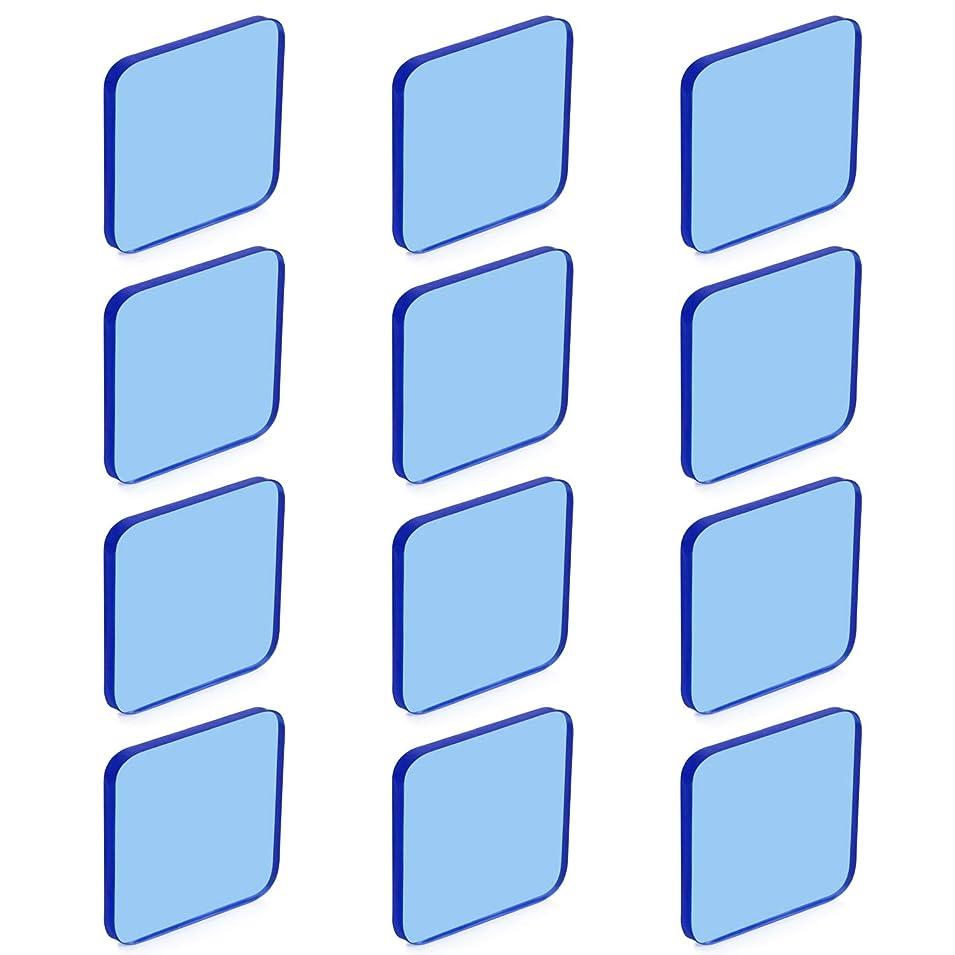 マインド小間彫る耐震マット 耐震ジェル 地震 家具 転倒防止 防災グッズ 防災用品 ブルー 両面粘着(中) 地震対策 12枚入り