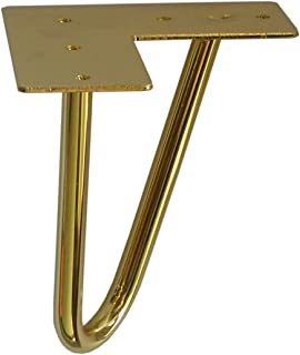 Hairpin Furniture Legs Chrome or Shiny Brass 6