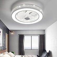 Rond LED ultra stille ventilator met lamptimer, instelbare windsnelheid en kleurtemperatuur, dimbare ventilatorplafondlamp...