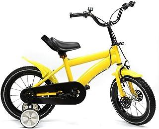 Vélo pour enfant 14 pouces - Avec roue auxiliaire - Frein à rétropédalage - Roues stabilisatrices - Unisexe