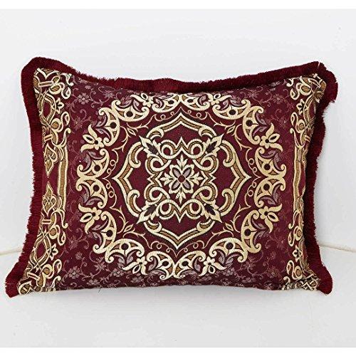 Casa Moro Marokkanisches Deko Kissen-Bezug Hassena Bordeaux 75 x 55 cm | Orientalische Vintage Kissenhülle für Zierkissen Couchkissen Sofakissen Motivkissen | SO1305