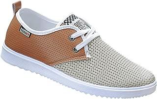EU Zapatos Hombre,Hombres zapatos causales de encaje-hasta botines zapatos casuales altos zapatos de lona superior LMMVP Azul, 43