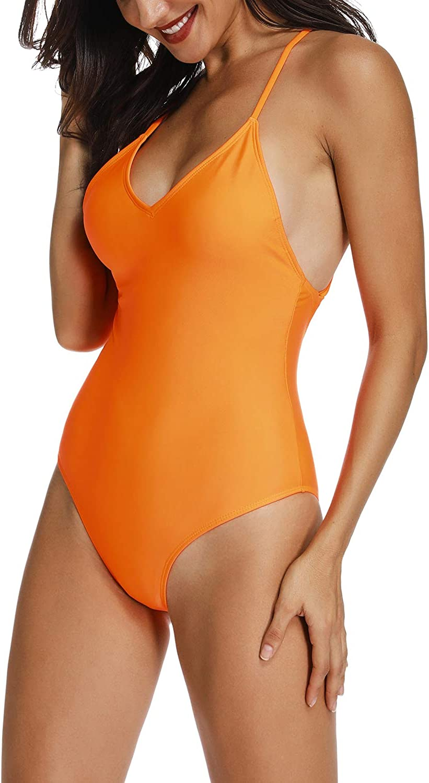 INSTINNCT Womens One Piece Bikini Back Crisscross Lace Up Swimsuit Backless Bathing Suit String Adjustable Tie Swimwear