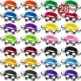 Grelots Bracelet Bracelets Jouets Rythmiques Musicaux Instrument de Percussion Cloches de Poignet Fête Musicale et Cloches de la Cheville pour Noël l'École Enfants (28 Pièces, 14 Couleurs)
