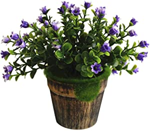 Catkoo Artificial Flowers,1Pc Artificial Flower Pot Bonsai Performance Stage Garden Wedding Party Decor,Perfect for Party Decoration,Home,Office Decoration,Christmas Decoration White