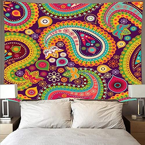 Tapiz de estilo bohemio retro arte mandala tapiz psicodélico colgante de pared toalla de playa manta tela colgante A6 180x230cm