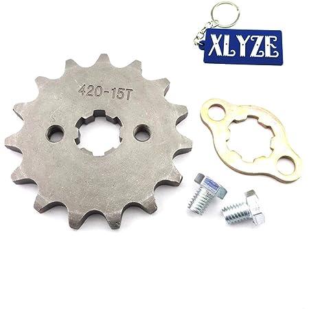 Xlyze 420 15 Zähne Kettenrad Vorne 17 Mm Für Atv 50cc 70cc 90cc 110cc 125cc Pit Dirt Bike Ycf Ssr Auto