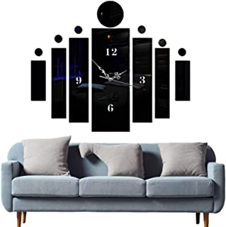Modern Elegant Acrylic Mirror-Surface Noiseless Clock, Wall Sticker Set DIY Art Mural Home Decoration Wall Clock, for Offi...