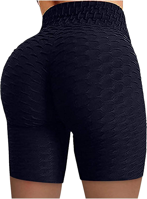 Active Leggings Athletic Shorts for Women,Women Workout Scrunch Booty Biker Shorts High Waist Butt Lifting Running Yoga Pants