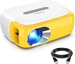 مینی پروژکتور ، ویدئو پروژکتور LED تمام رنگی قابل حمل ELEPHAS برای کارتون ، فیلم تلویزیونی ، هدیه بچه ها ، بازی مهمانی ، پروژکتور فیلم Pico برای سینمای خانگی با رابط های تلویزیون HDMI USB و کنترل از راه دور