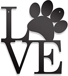 Steel Roots Decor Dog Paw Love Wall Decor Dog Lover Home Decor – Dog Mom Gifts –..