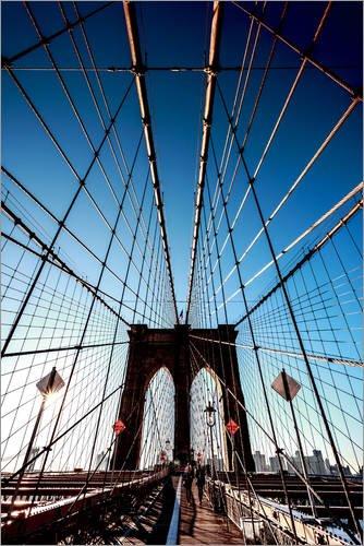Posterlounge Acrylglasbild 40 x 60 cm: Brooklyn Bridge, New York City von Sascha Kilmer - Wandbild, Acryl Glasbild, Druck auf Acryl Glas Bild