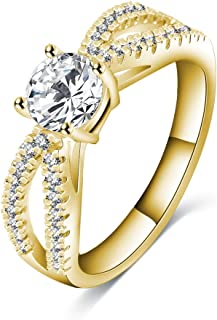 1440 PEARL PRINCESS BLUE CLEAR Simulated diamond ring gold stainless steel