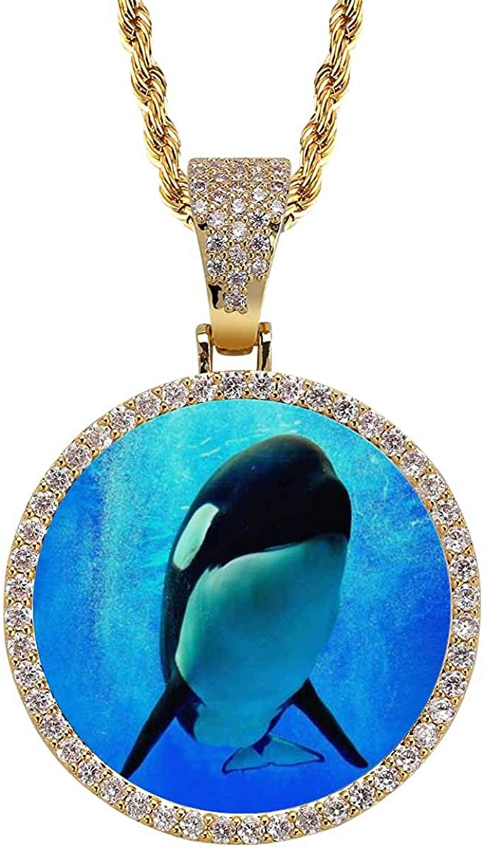 INTERESTPRINT Finally popular Max 87% OFF brand Killer Whale Swimming Underwater Neck with Bubbles