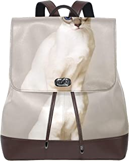 FANTAZIO - Mochila de Viaje para Gato, Color Blanco