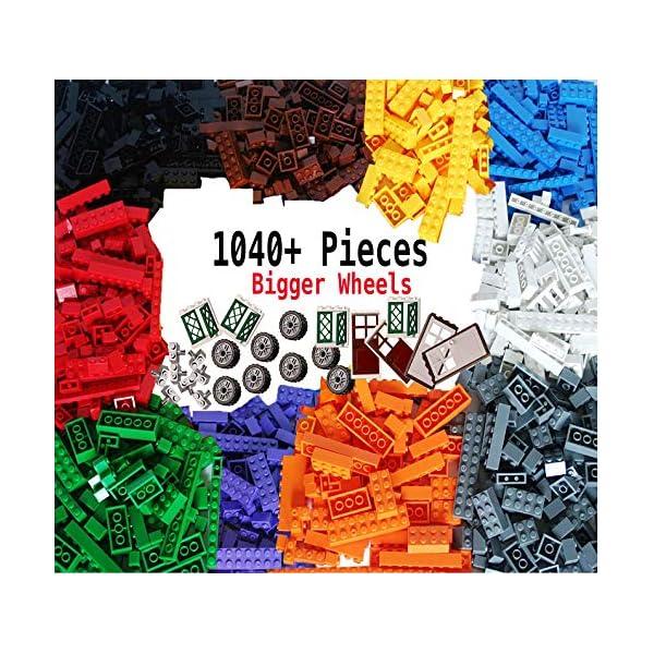 dreambuilderToy Building Bricks 1100 Pieces Set, 1000 Basic Building Blocks in 10...