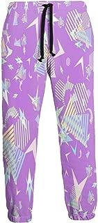 Cyloten Sweatpants Funny 80s 90s Retro Neon Plane Men's Trousers Durable Hip Hop Pants Sportswear with Pockets