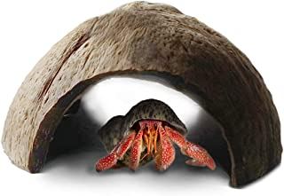 SunGrow Hermit Crab Hut and Hideout, Raw Coco Tunnel, Ideal Breeding Ground, Encourages Physical Activity, Durable Habitat, Maximum Privacy, Eco-Friendly
