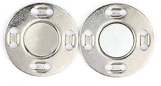 Hislaves Fecho magnético de fácil instalação, botões magnéticos de costura, suprimentos de costura invisível, 1 par prata