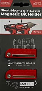 StealthMounts Milwaukee M12 Red Magnetic Bit Holder (2 Pack)