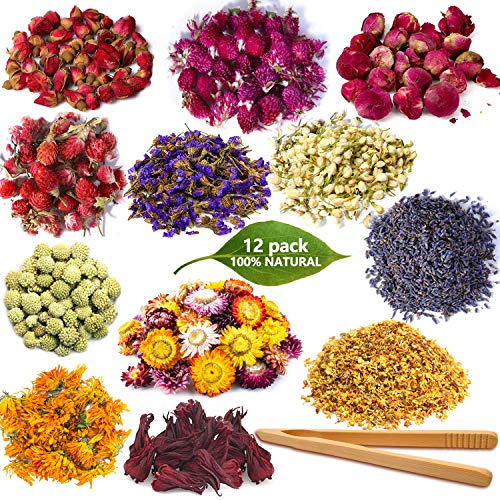 killys 100% Natural Dried Flower Set, Used to Make Candles,...