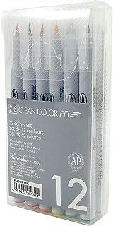ZIG CLEAN COLOR FB 12 colours set