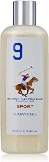 Beverly Hills Polo Club Sports Shower Gel for Men, No 9, 250ml