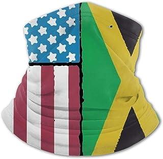 Pasamontañas para cuello con diseño de bandera de Jamaica de Estados Unidos para niños, protección UV, resistente al vient...