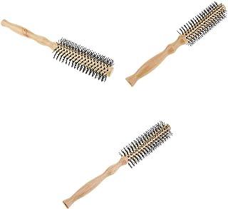 T TOOYFUL ロールブラシ ヘアブラシ 木製櫛 スタイリングブラシ 巻き髪 静電気防止 3本セット