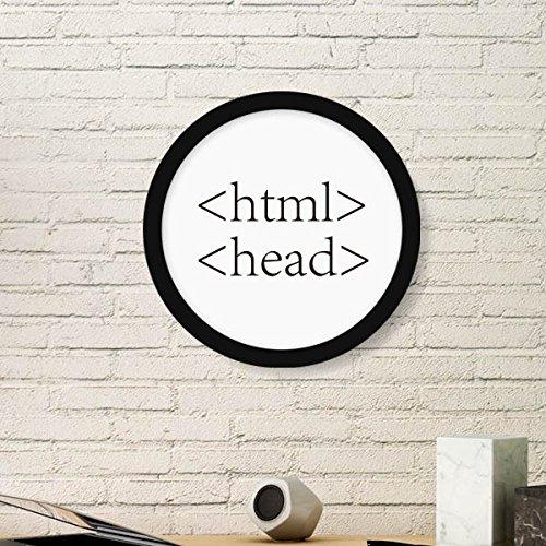 DIYthinker Programmer Programm Statement HTML Runde Bilderrahmen Kunstdrucke von Paintings Startseite Wandtattoo Geschenk Large Schwarz