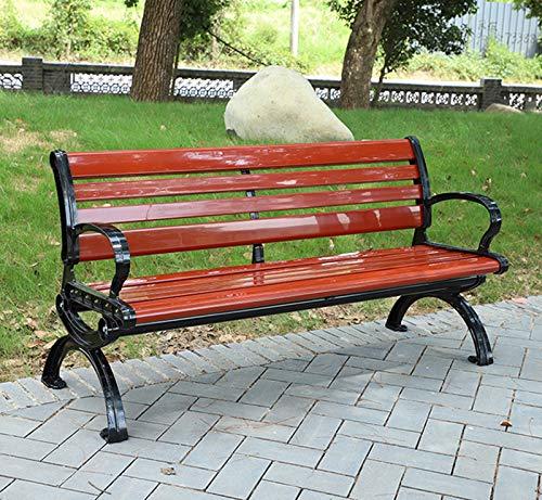 Guard WPC Gartenbank, 120 cm / 150 cm, Patio-Parkbank Im Freien Mit/Ohne Rückenlehne, Robuster, Langlebiger Gusseisenrahmen