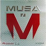 XIOM Musa - Gomma da ping pong, 1,5 mm, colore: Nero...