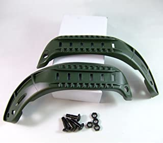 ATAIRSOFT Tactical MSA ACH Type Helmet Side Rail for ACH MICH 2001 2000 2002 Helmet (Not for Fast Helmet) OD Green