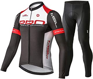 Mysenlan Men's Cycling Jersey Long Sleeve Shirts Bike Bicycle Breathable Riding Sports Jerseys