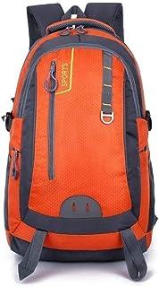 ZXCMNB Backpack, Large Capacity 40L Unisex Sports Leisure Backpack Outdoor Travel Bag 45x30x20cm (Color : Orange)