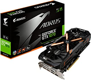 Gigabyte AORUS GeForce GTX 1070 8G GeForce GTX 1070 8GB GDDR5 - Tarjeta gráfica (NVIDIA, GeForce GTX 1070, 7680 x 4320 Pixeles, 1632 MHz, 1835 MHz, 8 GB)