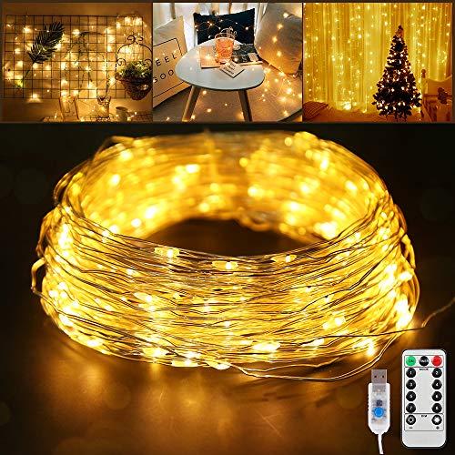 20M Guirlande Lumineuse, 8 Modèles Fairy Lights Intérieur et Extérieur Decoration Etanche Décoration Romantique pour Chambre Noël Mariage Soirée Maison Jardin