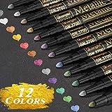 RATEL Pennarelli Metallici, 12 Colori Brillanti Metallic Marker Penne per Artigianato d'Ar...