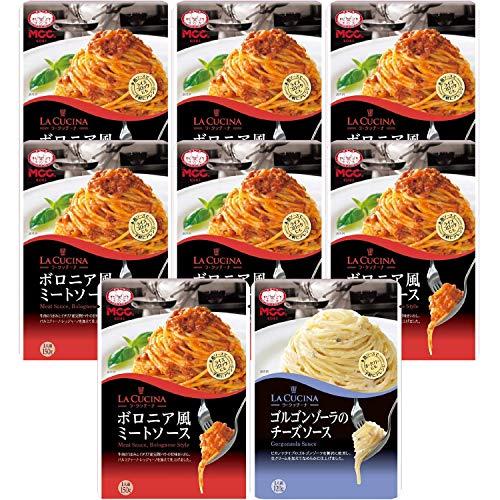 【セット商品】MCC パスタソース ミートソース7個&ゴルゴンゾーラ1個 2種アソート