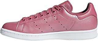 adidas, Stan Smith Shoes, Unisex Shoes, White/White/Orchid Tint, 5 US Men / 6 US Women