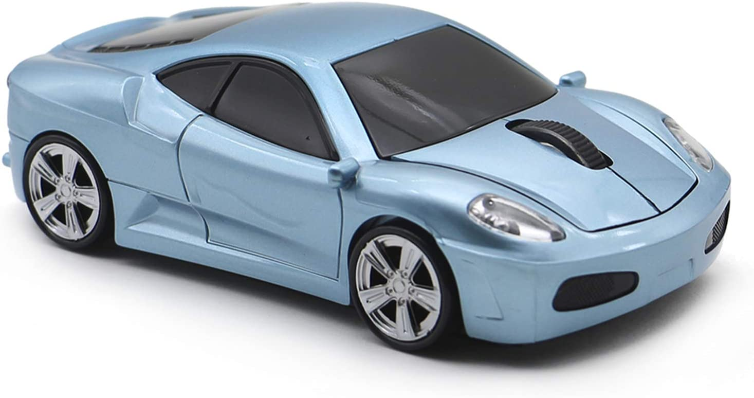 MGbeauty Wireless Mouse Sports Car Mouse Computer Optical Mice for PC Laptop MAC (Light Blue)