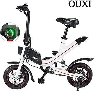 OUXI V1 Bicicletas eléctricas para Adultos, Bicicletas Plegables y para Hombres con batería de 250W 7.8Ah / 6.6Ah 36v 12 Pulgadas Ligero para Hombres City Fitness Outdoor Sporting Commuting
