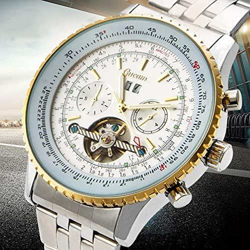 XYQC Relojes de Moda para Hombres, Tourbillon Hueco, Relojes automáticos para Hombres, Deportes de Negocios, mecánicos, Relojes Casuales Impermeables,C